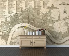 Generally I hate wallpaper… But I am LOVING this map of London –Garden, Home and Party: Wallpaper
