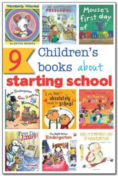 9 children's books about starting school: Whether your child is starting preschool or kindergarten, these books will ease worries, show how fun school is, and help your child feel prepared for a new educational adventure!    Gift of Curiosity