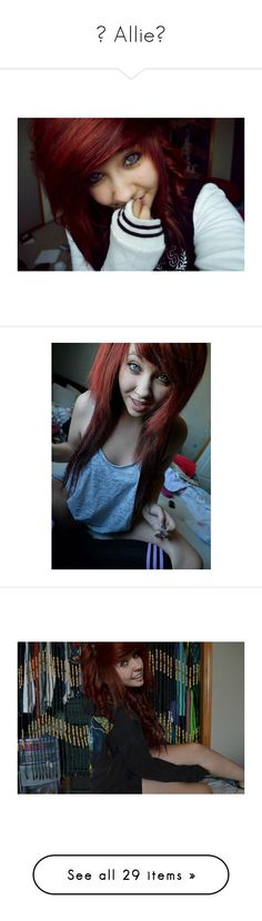 """""""♥ Allie♥"""" by the-epic-awesome-anons ❤ liked on Polyvore featuring accessories, hair accessories, people, hair, ally, red hair, girls, red hair accessories, allie and pictures"""