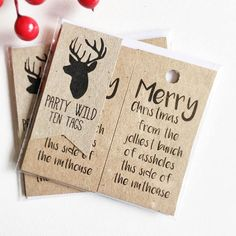 Shop us via the link and hit us with a follow on instagram @PartyWild15 to keep up with our latest! Tags: Kraft Brown. Favour Tags. Rustic. Christmas. National Lampoons.