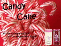 """Candy Cane"" 1/2 Cinnamon Spice, 1/2 Peppermint Patty www.pinkzebrahome.com/KatieSprinkles #PinkZebra #Sprinkles #Recipes"