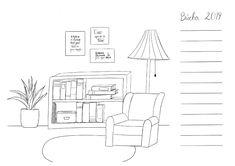 Deine persönliche Leseliste für 2019  ein Ausmalbild mit Platz für deine Buchliste Floor Plans, World Of Books, Book Gifts, Reading Lists, Reading Books
