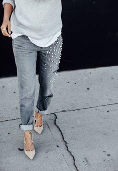 Осыпаем джинсы жемчугом. Новый модный тренд своими руками - Я Покупаю