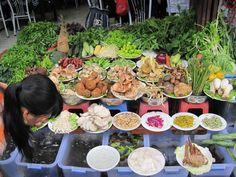 mushroom selection in a street-side market in Dali, in Yunnan Province