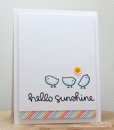 Lawn Fawn - Hello Sunshine Stamps and 6x6 paper by Tracey McNeely, via Flickr