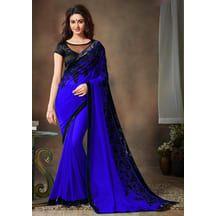 Designer Bollywood Georgette Blue Saree By Li Te Ra. Special Diwali Offer Buy One Get One Free