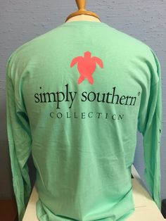 ae409f48b6a This cute long-sleeved tee from Simply Southern features an adorable pink  turtle on the back and