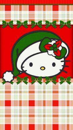 Christmas Wallpaper Pattern Friends 51 Ideas For 2019 Sanrio Hello Kitty, Hello Kitty Crochet, Hello Kitty Wallpaper, Wallpaper Iphone Cute, Cute Wallpapers, Cute Christmas Wallpaper, Holiday Wallpaper, Hello Kitty Imagenes, Hello Kitty Christmas