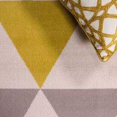 Modern Ochre Yellow Amp Grey Geometric Rug Studio