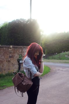 Red Hair With Bangs, Evening Sun, Hairstyles With Bangs, What I Wore, Personal Style, Fashion Outfits, Blogger Style, How To Wear, Bang Hairstyles
