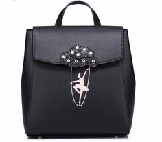 Cheap leather ladies backpacks, Buy Quality designer ladies backpacks directly from China fashion ladies backpack Suppliers: Just Star Brand Design Ballet Girls Dancing Embroidery Fashion PU Women Leather Ladies Backpack School Travel Shoulders Bags Black Backpack, Leather Backpack, Leather Fashion, Pu Leather, Ballet Girls, Embroidery Fashion, Girls Bags, Girl Dancing, School Backpacks