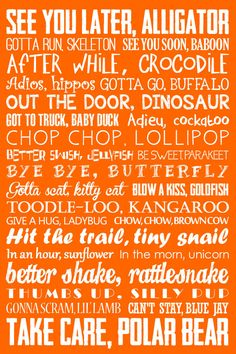 See you later alligator - Goodbye Sign See You Later Alligator After While Crocodile Subway Art Nursery Rhyme Teacher Decor Childrens Art 5 Colors Included Cute Quotes, Great Quotes, Funny Quotes, Funny Memes, Inspirational Quotes, Jokes, Smile Quotes, Funny Videos, Usmc Quotes