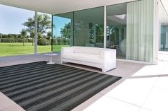 Papilio Rug Cyclo 4004 The ultimate in re-cycling! An award winning rug made from recycled inner tubes! The tubes are slit and handcrafted into a woven structure. No chemicals nor any finishing products are used in the manufacturing process. Outdoor Sofa, Indoor Outdoor, Outdoor Living, Outdoor Furniture, Outdoor Decor, Recycled Rugs, Indoor Rugs, Sun Lounger, Recycling
