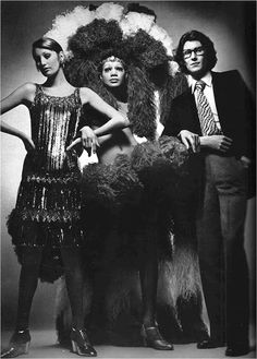 YSL, Vogue Paris, March 1970 ~ swingingsixties-superseventies: