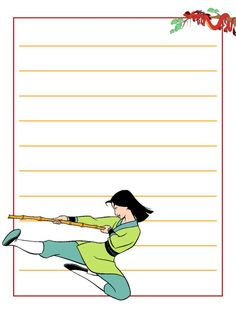 """Mulan - training - Project Life Journal Card - Scrapbooking ~~~~~~~~~ Size: 3x4"""" @ 300 dpi. This card is **Personal use only - NOT for sale/resale** Logo/clipart belongs to Disney. *** Click through to photobucket for more versions of this card ***"""