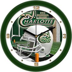 UNC Charlotte Glass Wall Clock * You can find more details by visiting the image link.