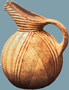 A Red-on-White (RoW) beak spouted jug from southern Crete, 2,600-2,300 BCE