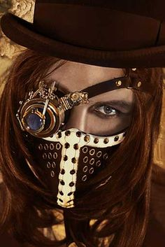 A nice mysterious look I could use, but it looks a little scary 0_o #steampunkfashion#steampunkclothing