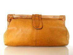 70's Boho Leather Purse. by AMUARA on Etsy