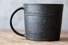 re-inventory: Hattori Tatsuya, Black silver color mug, 4,200 yen