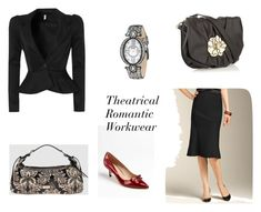 """Theatrical Romantic Workwear"" by cultivatingstyle ❤ liked on Polyvore featuring Joan & David, Talbots, Badgley Mischka, Fiorelli and TUA by Braccialini"