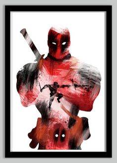 Deadpool Superhero Poster  24x36 by LynxCollection on Etsy, $34.95