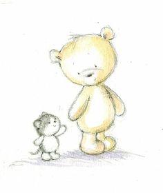 Leading Illustration & Publishing Agency based in London, New York & Marbella. Elephant Illustration, Cute Illustration, Tatty Teddy, Pretty Art, Cute Art, Image Deco, Cute Animal Drawings, Bear Art, Baby Scrapbook
