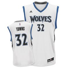 adidas Timberwolves Karl-Anthony Towns Home Replica Jersey