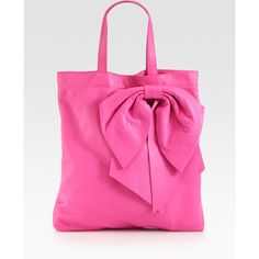 RED Valentino Bow Tote ($450) ❤ liked on Polyvore