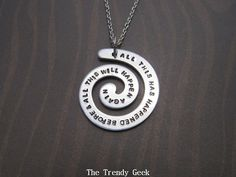 Battlestar Galactica Spiral Pendant Necklace or by TheTrendyGeek