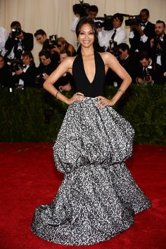 """Zoe Saldana attends the """"Charles James: Beyond Fashion"""" Costume Institute Gala at the Metropolitan Museum of Art on May 5, 2014 in New York ..."""