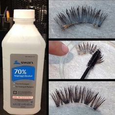 Save your eyelashes!!! Rubbing alcohol does the work. ;)