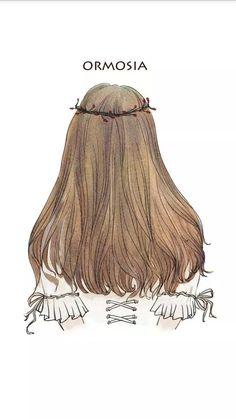 插画 手绘 发型 背影