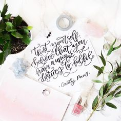 I absolutely love this quote - sometimes your heart knows best and all you have to do is just follow the lead. Hand Lettered Quote | Instagram Flatlay | Pineapple Jam Design Graphic Design Studio