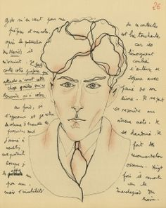 Autoportrait de Jean Cocteau dans Le Mystère de Jean l'Oiseleur