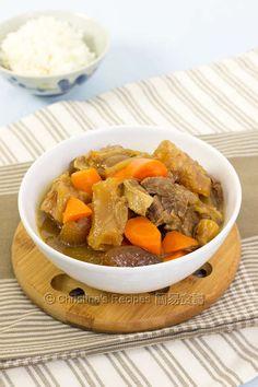 Christine's Recipes: beef tendon brisket stew