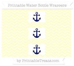 Cream Chevron  Nautical Water Bottle Wrappers