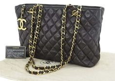 Chanel Quilted Leather Chain Shoulder Bag