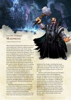 Domain of Madness Cleric by The_Singular_Anyone