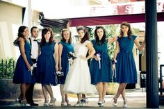 bridesmaid dress , Pretty Blue