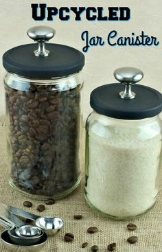 Super Easy Upcycled DIY Canister | DIYIdeaCenter.com