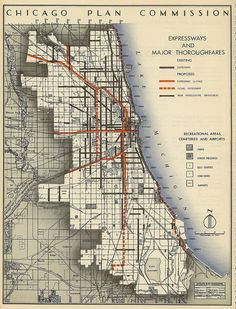 Chicago Plan Commission: Expressways and Major Thoroughfares (1945) | Flickr - Fotosharing!