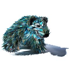 Amazing Animals Sculptures Made From Broken CDs More Images www.lookouch.com/... #animals #animal #sculpture #cd #broken cds #art #artist #artistcommunity