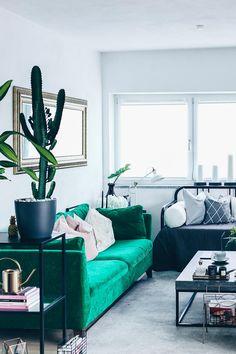 Unsere Neue Wohnzimmer Einrichtung In Grün, Grau Und Rosa! | декор дома |  Pinterest | Room Ideas, Living Rooms And Living Room Ideas