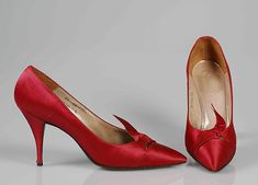 House of Dior (French, founded 1947). Evening pumps, ca. 1960. The Metropolitan Museum of Art, New York. Brooklyn Museum Costume Collection at The Metropolitan Museum of Art, Gift of the Brooklyn Museum, 2009; Gift of Lauren Bacall, 1967 (2009.300.7635a, b)