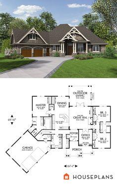 Craftsman Plan 48-639. houseplans.com #CraftsmanHousePlan #ArchitecturalDetails…
