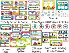 Monster Classroom Theme Pack {Editable}                                                                                                                                                      More