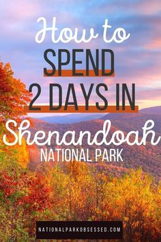 Looking to spend two days in Shenandoah National Park? Here is everything you need to know to make the most of your weekend in Shenandoah National Park.  Shenandoah Itinerary / Shenandoah in two days / Shenandoah National Park Itinerary / National Park Passport, National Parks Usa, Usa Travel, Travel Tips, Travel Destinations, Weekend Trips, Weekend Getaways, Parque Natural, Shenandoah National Park