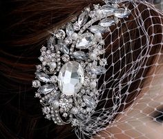 SALE Bird Cage Veil Blusher Birdcage Veil and by EleganceByKate