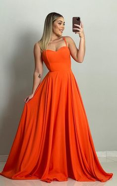 vestido longo laranja Bridesmaid Dress Styles, Orange Fashion, Burnt Orange, Boho Wedding, Wedding Colors, Ideias Fashion, Poses, Formal Dresses, Art Sketches
